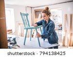 small business of a young woman. | Shutterstock . vector #794138425