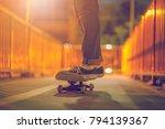 skateboarding lifestyle extreme ... | Shutterstock . vector #794139367