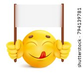 yellow smile round face... | Shutterstock .eps vector #794139781