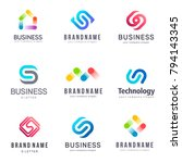 collection of vector logos for... | Shutterstock .eps vector #794143345