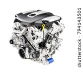 modern car engine isolated on... | Shutterstock . vector #794143501