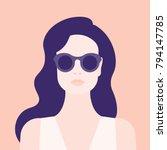 portrait of a woman. the head... | Shutterstock .eps vector #794147785