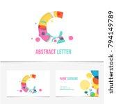 creative realistic 3d letter c... | Shutterstock .eps vector #794149789