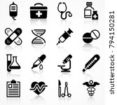 set of medical icons on white... | Shutterstock .eps vector #794150281