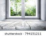 window background of spring... | Shutterstock . vector #794151211