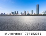 panoramic skyline with empty... | Shutterstock . vector #794152351