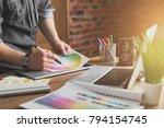 young creative artist of web... | Shutterstock . vector #794154745