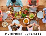 breakfast  family and religious ... | Shutterstock . vector #794156551