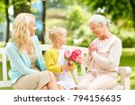 family  holidays and people... | Shutterstock . vector #794156635