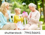 family  holidays and people... | Shutterstock . vector #794156641