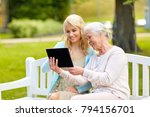family  technology and people... | Shutterstock . vector #794156701