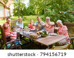 leisure  holidays and people... | Shutterstock . vector #794156719