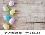 Easter Eggs Painted In Pastel...
