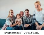portrait of a three generation... | Shutterstock . vector #794159287