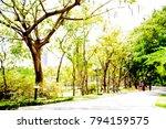 blur park with bokeh light... | Shutterstock . vector #794159575