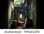 ta prohm temple area near... | Shutterstock . vector #794161255