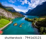 beautiful nature norway natural ... | Shutterstock . vector #794163121