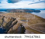 windmills for electric power... | Shutterstock . vector #794167861