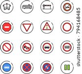 line vector icon set   airport... | Shutterstock .eps vector #794168485