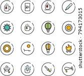 line vector icon set   tea... | Shutterstock .eps vector #794173015