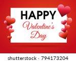 valentines day vector... | Shutterstock .eps vector #794173204