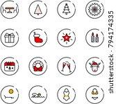 line vector icon set   cafe... | Shutterstock .eps vector #794174335