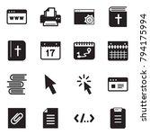 solid black vector icon set  ... | Shutterstock .eps vector #794175994