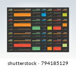 table  schedule  tab  planner ... | Shutterstock .eps vector #794185129