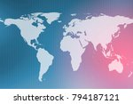 background of global with grid... | Shutterstock . vector #794187121