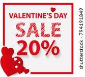 happy valentine's day. top view ... | Shutterstock .eps vector #794191849