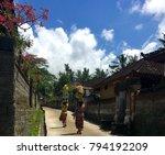 women carrying offerings in... | Shutterstock . vector #794192209