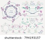 collection of floral design... | Shutterstock .eps vector #794193157