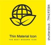 eco friendly bright yellow...