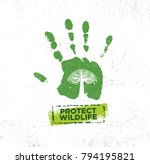 wild life protection community... | Shutterstock .eps vector #794195821