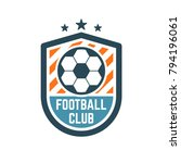soccer or football club logo or ... | Shutterstock .eps vector #794196061