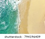 sand beach aerial  top view of... | Shutterstock . vector #794196409