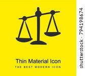 balance bright yellow material...