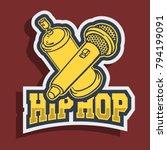 hip hop sticker design with... | Shutterstock .eps vector #794199091