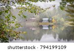 misty vista of algonquin lake ... | Shutterstock . vector #794199109
