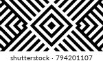 seamless pattern with striped... | Shutterstock .eps vector #794201107