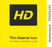 hd sign bright yellow material... | Shutterstock .eps vector #794201251