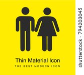 wc sign bright yellow material... | Shutterstock .eps vector #794203045