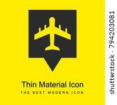 airport pin bright yellow...