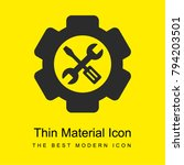 setting tools bright yellow...