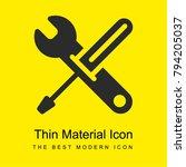 settings tools bright yellow...