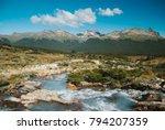 wild patagonia in the trekking... | Shutterstock . vector #794207359
