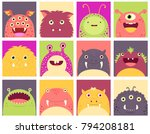 collection of faces avatars... | Shutterstock .eps vector #794208181