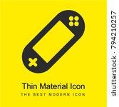 portable console bright yellow...