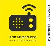 radio alarm bright yellow...