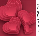 happy valentines day greeting... | Shutterstock .eps vector #794210311
